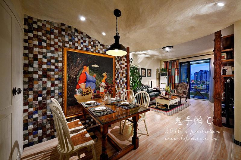 餐厅背景墙130平米装修装修效果图 6 效果图 齐家网